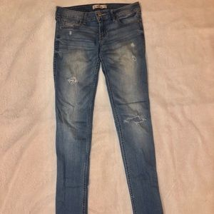Hollister faded/ripped skinny jeans